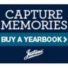 Capture Memories Buy a Yearbook Blue Logo Jostens