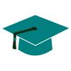 Teal Graduation Cap