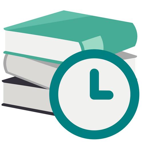 Three textbooks and a clock