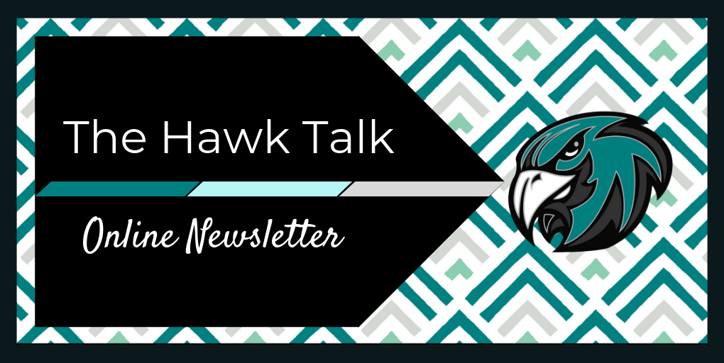The Hawk Talk Online Newsletter Pattern with Hawk Head