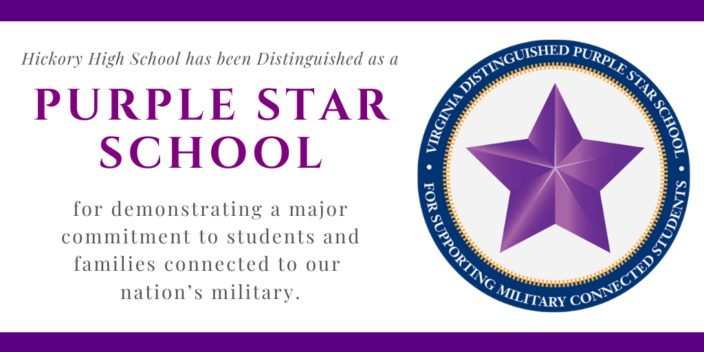 Purple Star School for demonstrating a major commitment to students and families connected to our nation's military.