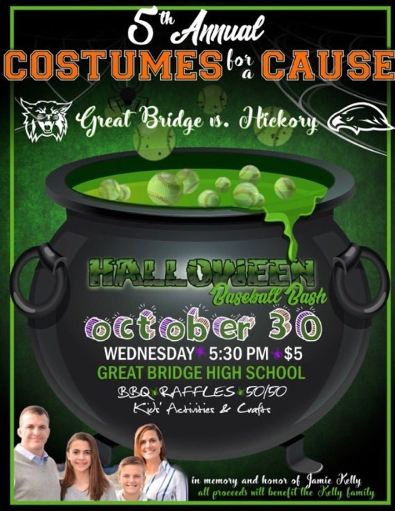 Costumes for a cause event flyer