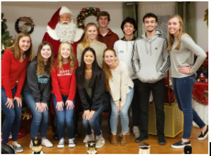 Students at Santa Lunch