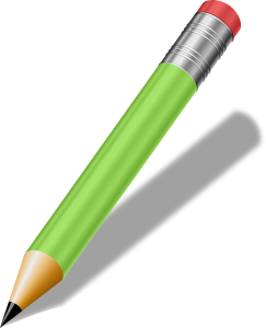 clip art of green pencil