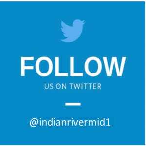follow us on twitter @indianrivermid1 - twitter symbol