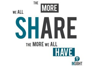 the more we all share the more we all have insight