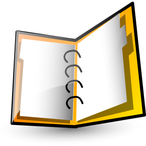 Yellow open binder
