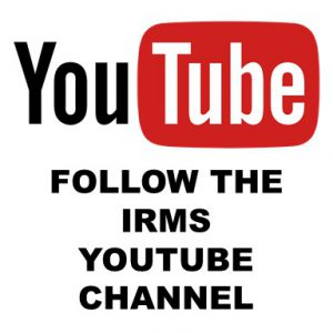 youtube logo - follow the irms youtube channel