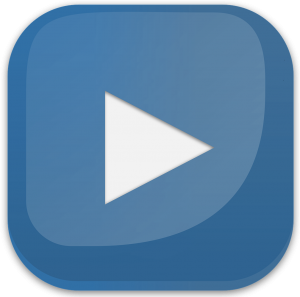 blue youtube play button