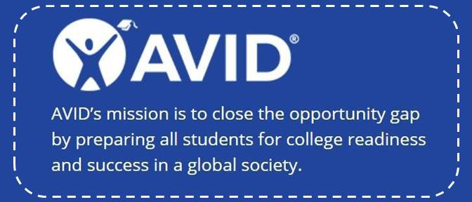 AVID avid's mission is to close the opportunity gap by preparing all students for college readiness and success in a global society