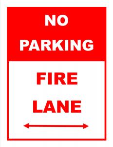 No parking - Fire Lane