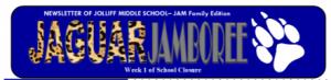 Jaguar Jamboree Parent Newsletter Week 1