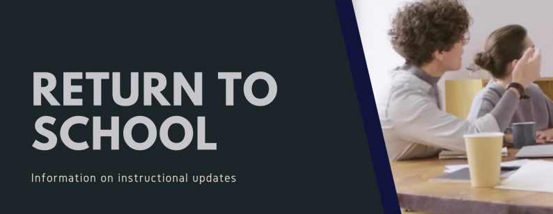 Jolliff Middle School Return to School Information on Instructional Updates