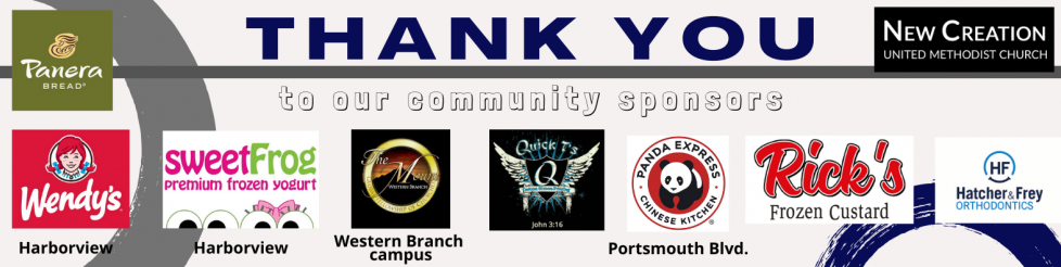 Thank you to our sponsors Panera Wendys The Mount Quickts Panda Express Ricks Custard