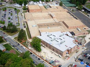 aerial view of western branch high