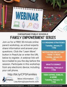 Family Empowerment Webinar Series Webinar