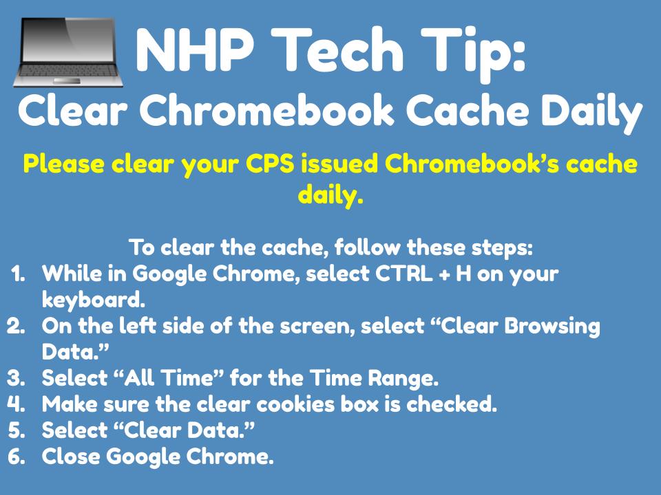 Clear Chromebook Cache