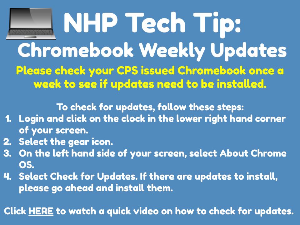 Chromebook Weekly Updates