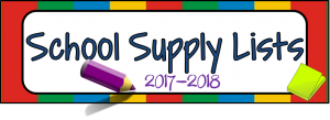 School Supply Lists 2017-2017