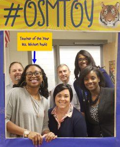 Oscar Smith Middle School's Teacher of the Year Ms. Michon David OSM TOY