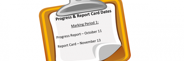 1st marking Period Dates