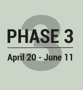 Phase 3 April 20-June11