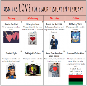OSM has LOVE for Black History in February