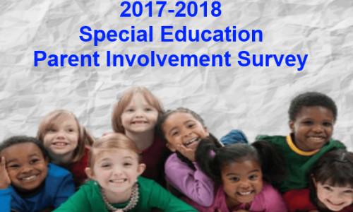 2017 2018 Special Education Parent Involvement Survey picture of a group of smiling children