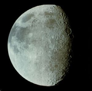 Gibbous moon - close up