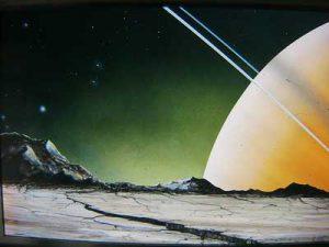 Saturn at an angle
