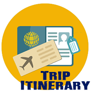 Trip Itinerary - passport and plane ticket