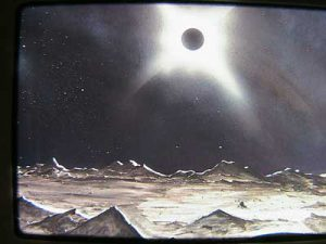 Eclipse view from a planet