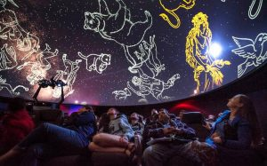 Zodiac constellations shown in dome to students