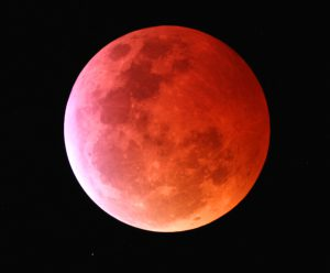 Larger view of the Moon during a lunar eclipse