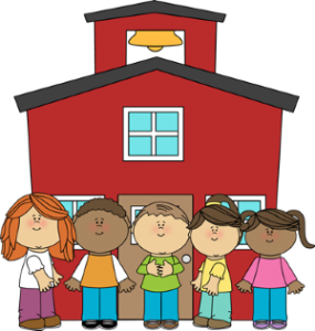 School House with Different race children