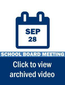 School Board Meeting Video Link: August 28