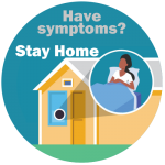 CDC image: Have symptoms? Stay Home.