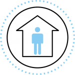 individual quarantining at home