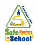 Chesapeake Safe Routes to School, bike on path to school