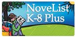 NoveList K through 8 plus adult Student reading a book in a field with a tree