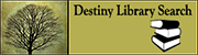 Destiny Library Search Logo Tree with books