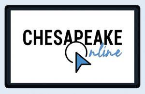 Chesapeake Online - paper airplane logo