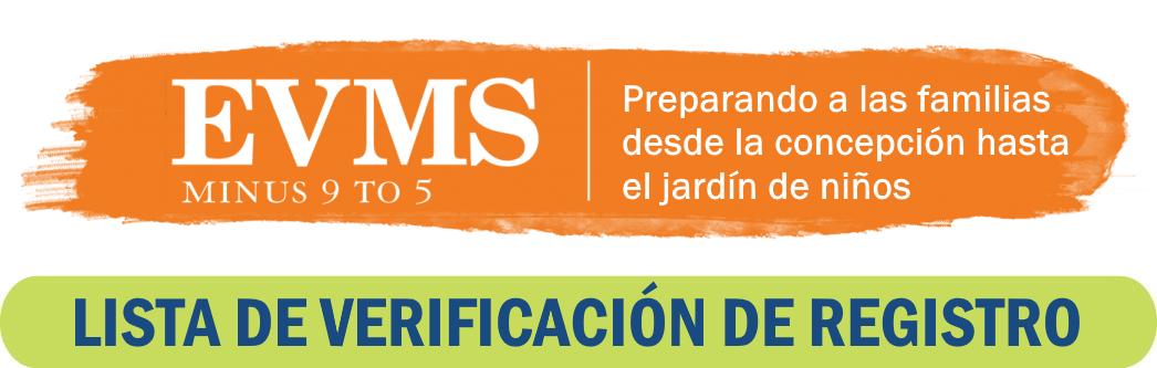 EVMS: Lista de verificación de registro