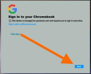 Sign in to your Chromebook screenshot