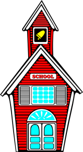 red narrow school building