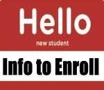 Hello New student Info to Enroll