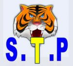 S.T.P with tiger mascot in background