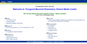 Destiny Follett Login Page for Thurgood Marshall Elementary