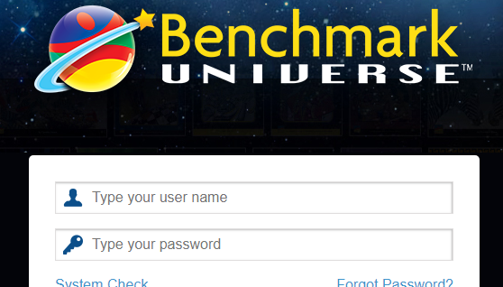 benchmark universe login screen screen-shot