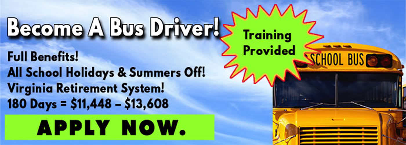 Become a bus driver with full benefits